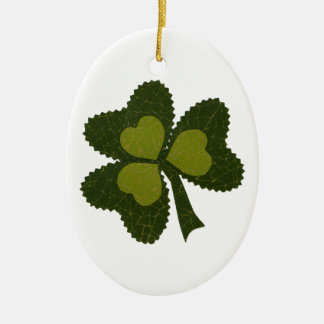 Saint Patrick's Day collage series # 9 Ceramic Oval Decoration