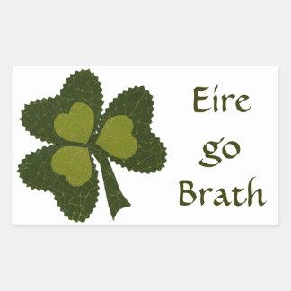 Saint Patrick's Day collage series # 9 Rectangular Sticker