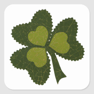 Saint Patrick's Day collage series # 9 Square Sticker