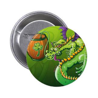 Saint Patrick's Day Dragon 6 Cm Round Badge
