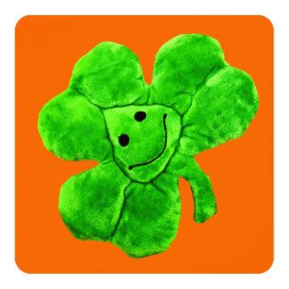 Saint Patrick's Day Funny Irish Shamrock Card 13 Cm X 13 Cm Square Invitation Card