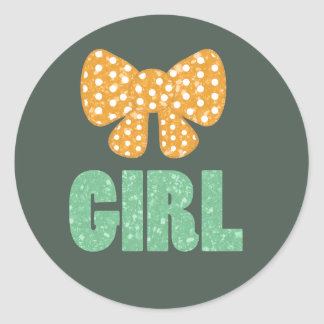 Saint Patrick's Day Gender Reveal Stickers (Girl)