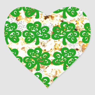 SAINT PATRICKS DAY HEART STICKER