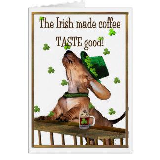 Saint Patrick's Day Irish Coffee Card