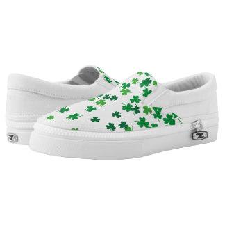 Saint Patrick's Day Irish Green Shamrock Clovers Slip On Shoes