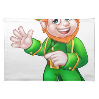 Saint Patricks Day Leprechaun Placemat