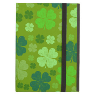 Saint Patrick's Day, Lucky Clovers - Green Cover For iPad Air