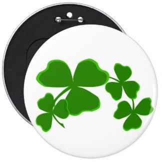 Saint Patrick's Day Lucky Luck Green Shamrock 6 Cm Round Badge