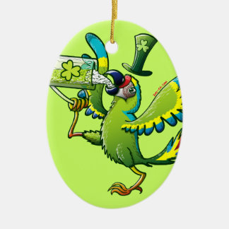 Saint Patrick's Day Macaw Ornaments