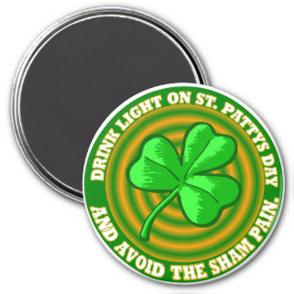 Saint Patrick's Day Magnet.' 3 Inch Round Magnet