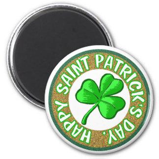 Saint Patricks Day Magnet. 6 Cm Round Magnet
