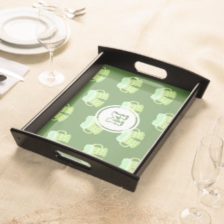 Saint-Patrick's Day monogram serving tray