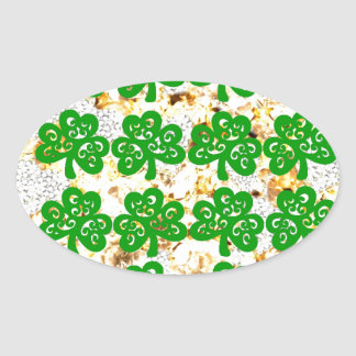 SAINT PATRICKS DAY OVAL STICKER
