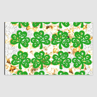 SAINT PATRICKS DAY RECTANGULAR STICKER