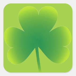 Saint Patrick's Day Shamrock Square Sticker