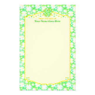 Saint Patrick's Day Shamrocks Retro Watercolor Stationery Paper