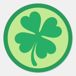 Saint Patricks day shamrocks Round Sticker