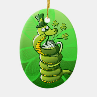 Saint Patrick's Day Snake Christmas Ornament