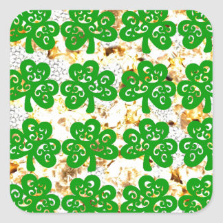 SAINT PATRICKS DAY SQUARE STICKER