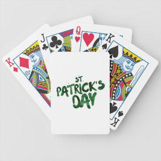 Saint patrick's day st bicycle playing cards