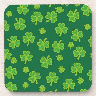 Saint Patrick's Day - Three Leaf Clovers Drink Coaster