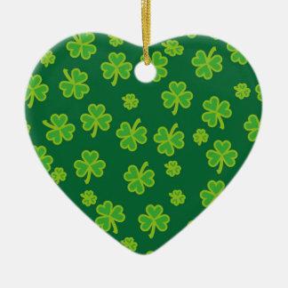Saint Patrick's Day - Three Leaf Clovers Ornaments