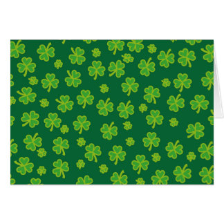 Saint Patrick's Day - Three Leaf Clovers Greeting Card