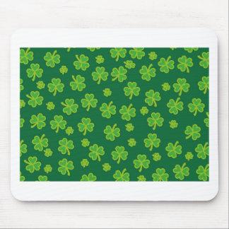 Saint Patrick's Day - Three Leaf Clovers Mousepad