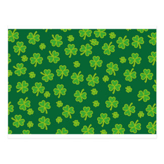 Saint Patrick's Day - Three Leaf Clovers Postcard