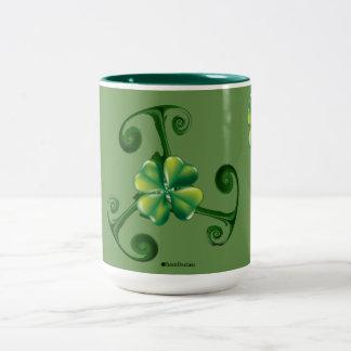 Saint Patrick's Day & Triskele *Lá Fhélie Pádraig Two-Tone Coffee Mug