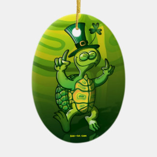 Saint Patrick's Day Turtle Ornament