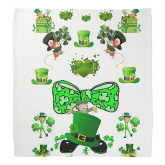 saint patricks girls bandana