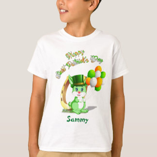 Saint Patrick's Green Bunny Cartoon T-Shirt