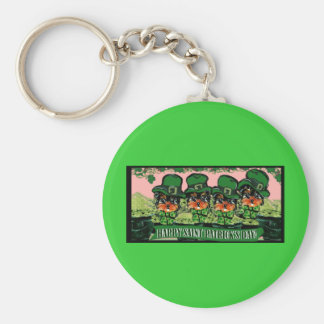 Saint Patty Yorkie Poos Key Ring