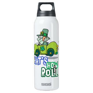 Saint Patty's Day Leprechaun 16 Oz Insulated SIGG Thermos Water Bottle