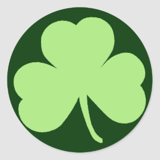 Saint Pattys Day Shamrock Round Sticker