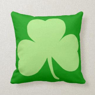 Saint Pattys Day Shamrock Throw Cushion