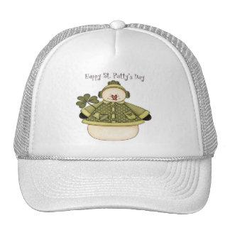 Saint Patty's Day Snowman 1 Trucker Hats