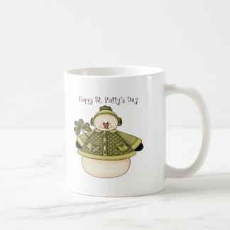 Saint Patty's Day Snowman 1 Coffee Mugs