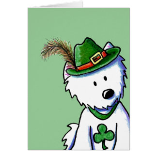 Saint Patty's Westie Terrier Card