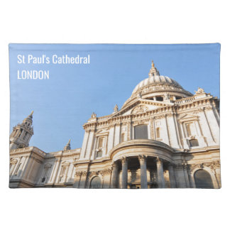 Saint Paul cathedral in London, UK Placemat