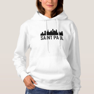 Saint Paul Minnesota City Skyline Hoodie