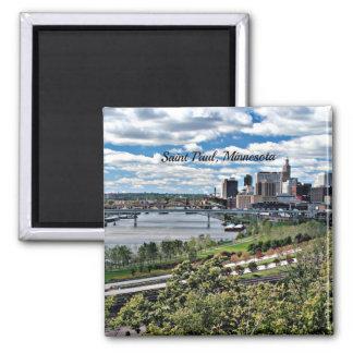Saint Paul, Minnesota Landscape Square Magnet
