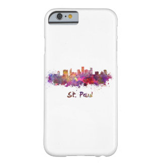 Saint Paul skyline in watercolor Barely There iPhone 6 Case