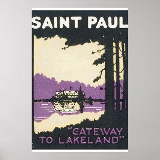 Saint Paul Vintage Travel Poster Artwork