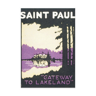 Saint Paul Vintage Travel Poster Artwork Gallery Wrapped Canvas