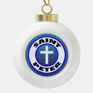 Saint Peter Ceramic Ball Christmas Ornament