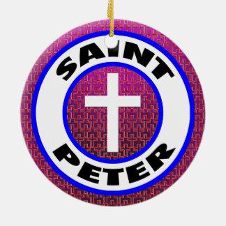 Saint Peter Ceramic Ornament