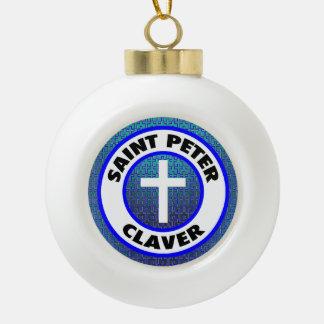 Saint Peter Claver Ceramic Ball Christmas Ornament