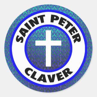 Saint Peter Claver Classic Round Sticker